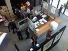 Overhead view of 2014 Art meets Science Exhibition