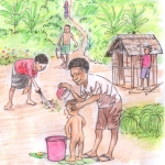 Illustration from Water, Sanitation and Hygiene research project