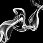 Whisp of cigarette smoke
