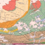 Geology map of mineral resources