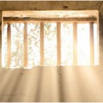 Light shining through prison cell window
