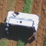 Aerail view of an agricultural field robot